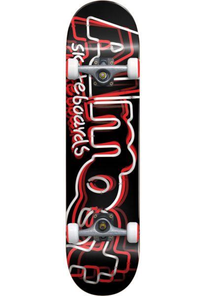 Almost Skateboard komplett Neon black-white vorderansicht 0161927