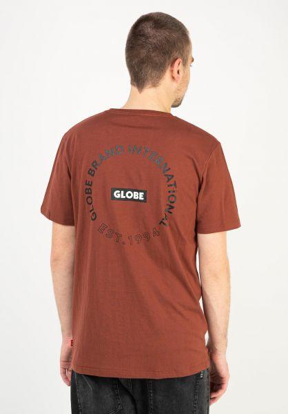 Globe T-Shirts Device rust vorderansicht 0320623