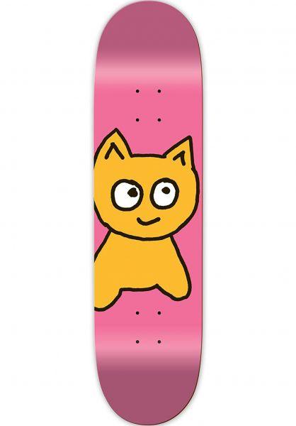 Meow Skateboards Skateboard Decks Big Cat pink Vorderansicht