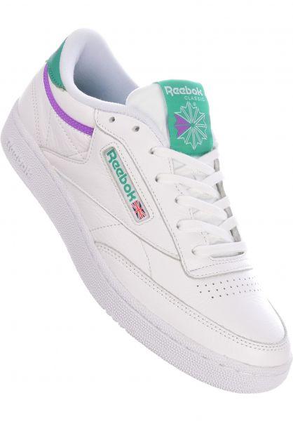 Reebok Alle Schuhe Club C 85 white-emerald-grapepunch vorderansicht 0604518