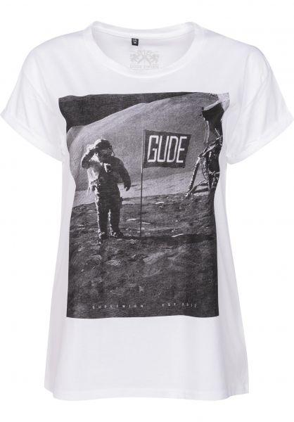 GUDE T-Shirts Mondlandung Girlie white Vorderansicht