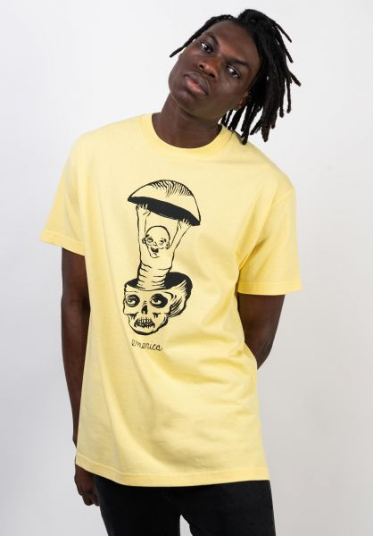 Emerica T-Shirts Skull yellow vorderansicht 0036478