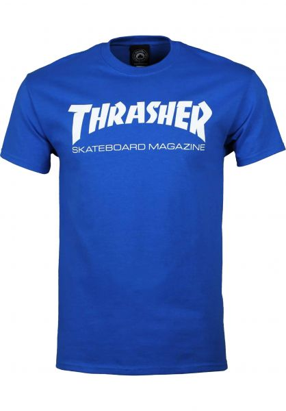 Thrasher T-Shirts Skate-Mag royal vorderansicht 0038081