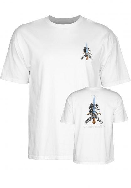 Powell-Peralta T-Shirts Skull & Sword white Vorderansicht
