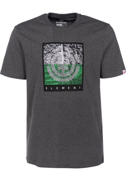 Element T-Shirts Reroute charcoalheather Vorderansicht