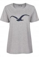 Cleptomanicx T-Shirts Möwe heathergrey Vorderansicht