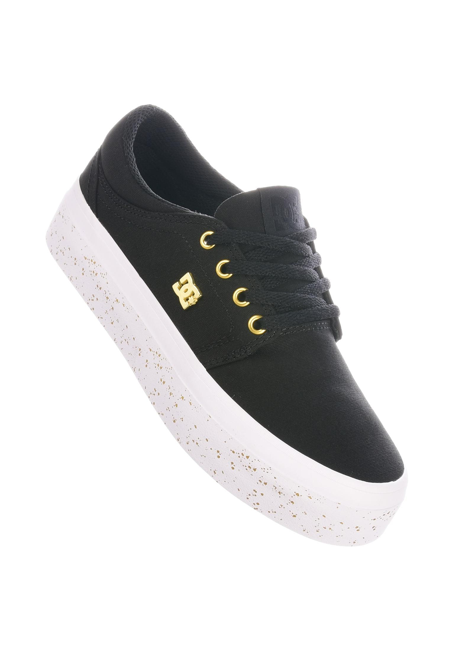 black and gold dc shoes cheap online