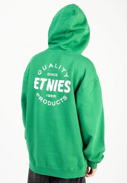 etnies Hoodies Quality Control green-white vorderansicht 0446323
