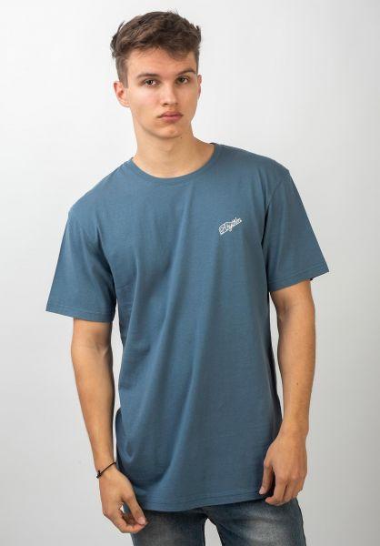 Rhythm T-Shirts Script indigo vorderansicht 0320638