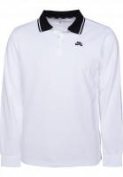 Nike SB Polo-Shirts Dry Polo LS white-black-black Vorderansicht