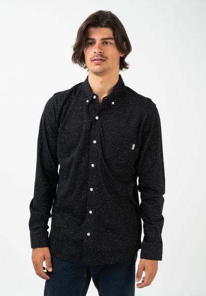 Wemoto Hemden langarm Shaw Mel blackmelange vorderansicht 0412074