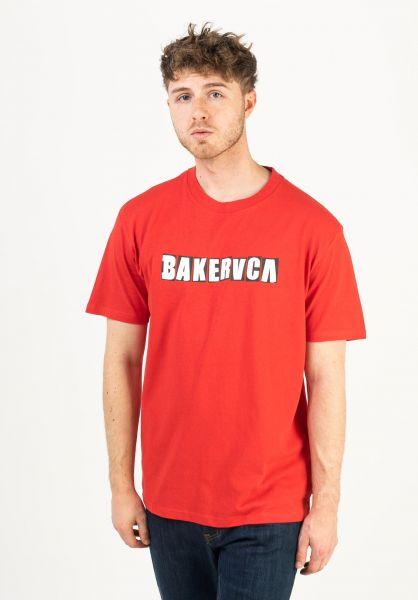 RVCA T-Shirts Ransom red vorderansicht 0322458