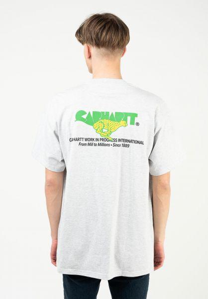 Carhartt WIP T-Shirts Runner ashheather vorderansicht 0324141