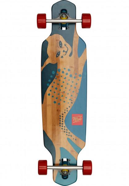 MOB-Skateboards Longboards komplett Cat 34 Bamboostic natural-blue Vorderansicht