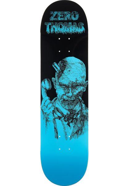 Zero Skateboard Decks Thomas Zombie black-blue vorderansicht 0261907