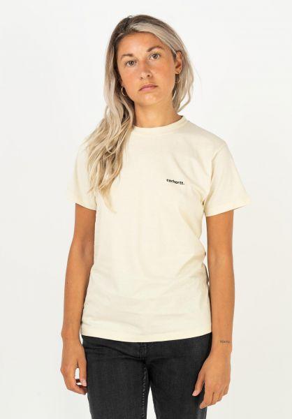 Carhartt WIP T-Shirts W´ Typeface flour-black vorderansicht 0322184