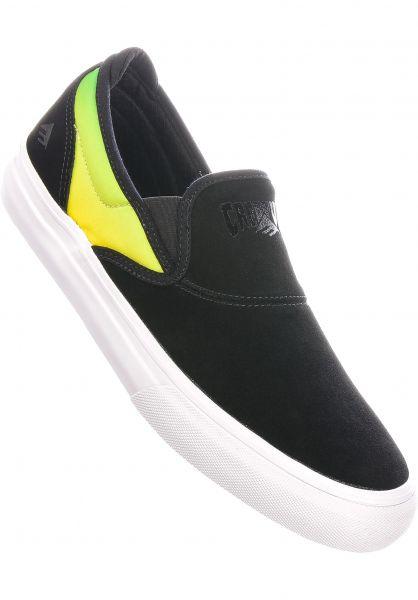 Emerica Alle Schuhe x Creature Wino G6 Slip On black vorderansicht 0604976