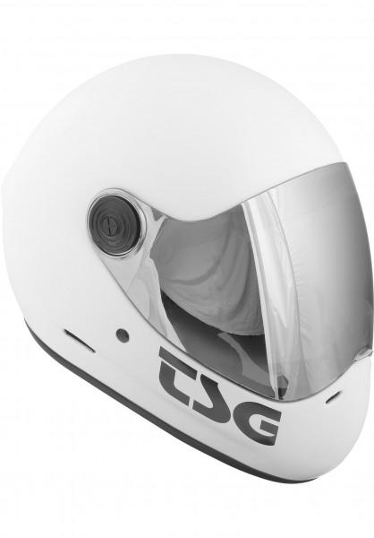 TSG Fullface-Helme Pass Solid Color satin white Vorderansicht