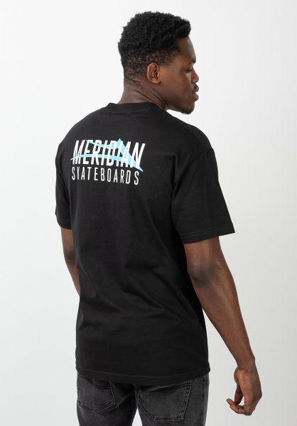 Lakai T-Shirts x Meridian City black vorderansicht 0321198