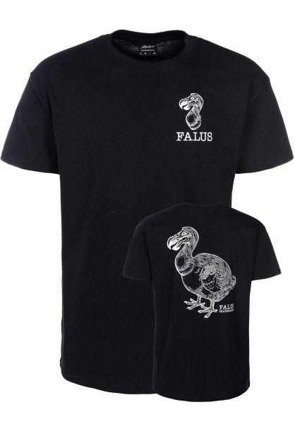 Falus T-Shirts Dodo Logo black vorderansicht 0320003