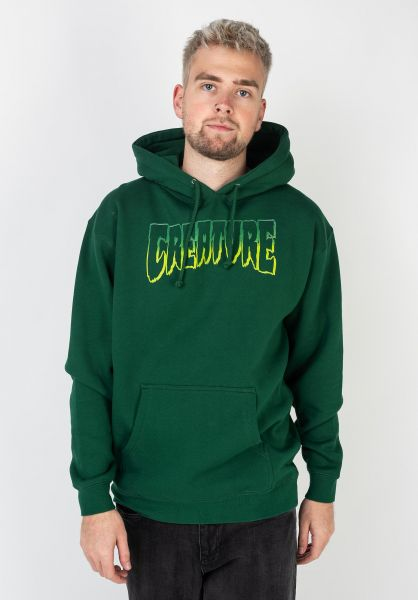 Creature Hoodies Logo Outline darkgreen vorderansicht 0445097