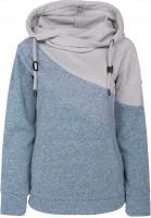 WLD Hoodies Winter-Cheriemoya-II grey-blue-petrol Vorderansicht