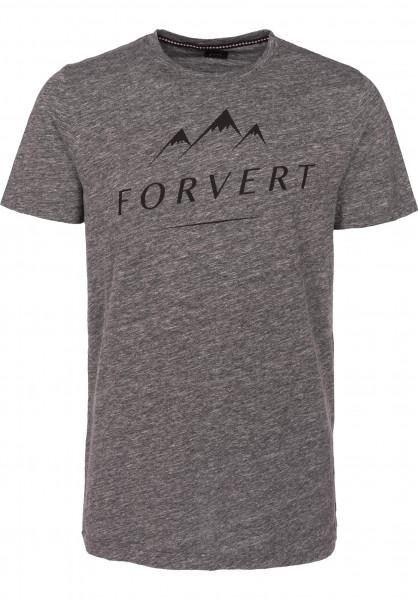 Forvert T-Shirts Nils greymelange Vorderansicht