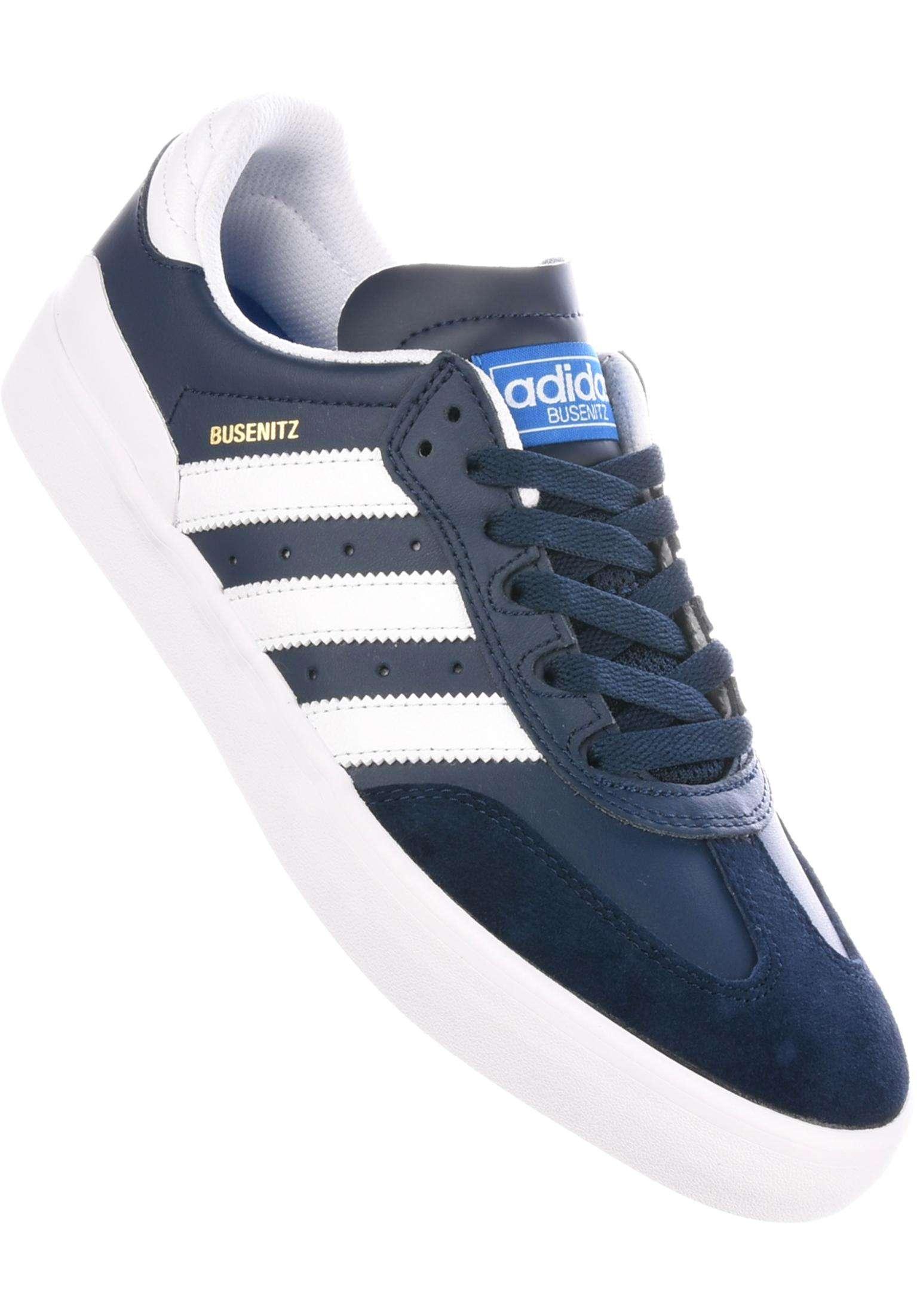 Busenitz Vulc Samba Edition adidas-skateboarding All Shoes in navy-white-bluebird  for Men  ca9230981363c