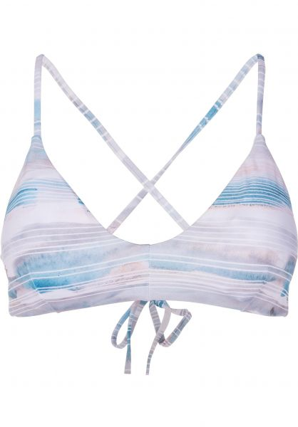 RVCA Beachwear Washed Lines Crossbandeau mallardgreen Vorderansicht