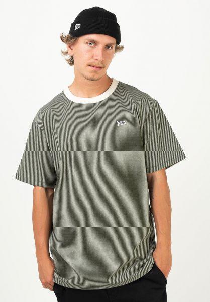TITUS T-Shirts Fedja nutria-striped vorderansicht 0320907