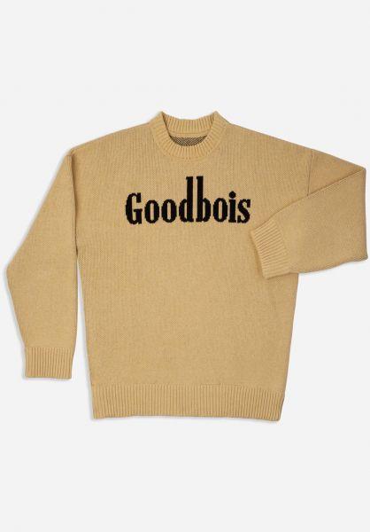 Goodbois Strickpullover Frontier Knit Crewneck beige vorderansicht 0144191