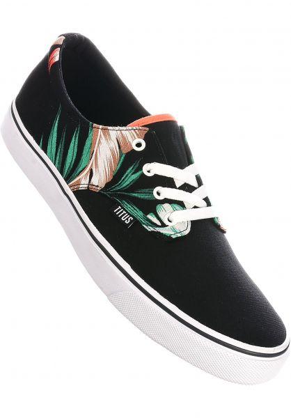 TITUS Alle Schuhe Clubman black-flowers-white vorderansicht 0604300