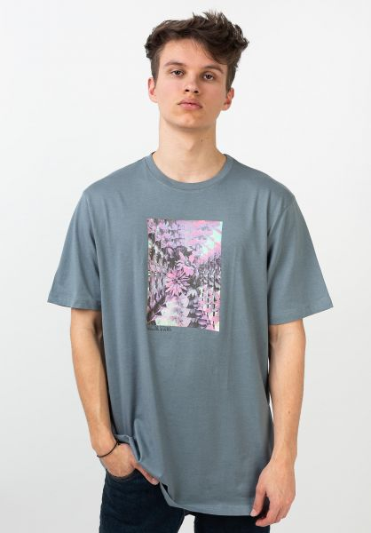 Volcom T-Shirts Frequent FTY stormyblue vorderansicht 0321555