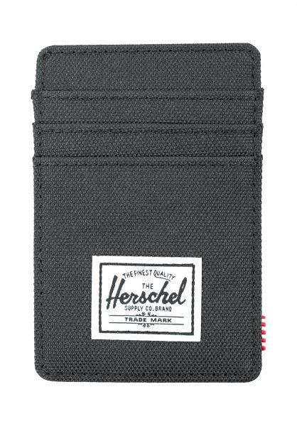 Herschel Portemonnaie Raven black vorderansicht 0781051