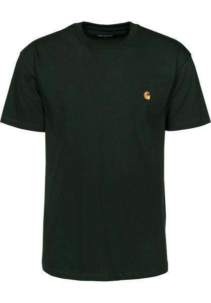 Carhartt WIP T-Shirts Chase loden-gold Vorderansicht