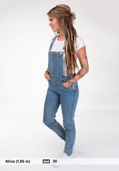 Plenty Humanwear Jeans Weekender Overalls lightblue vorderansicht 0269037