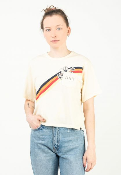 Hurley T-Shirts Seagull Stripes fossil vorderansicht 0323014