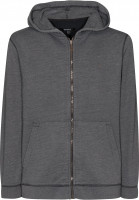 Makia Zip-Hoodies Flag Zip Up darkgrey Vorderansicht