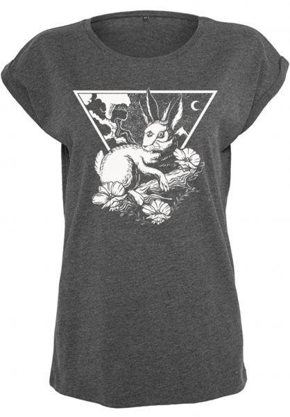 Rebel Rockers T-Shirts Wolmat charcoal-heather Vorderansicht