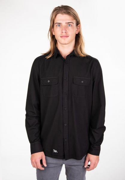 TITUS Hemden langarm Anton black vorderansicht 0411731