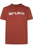 Rules T-Shirts Basic darkorangemottled Vorderansicht