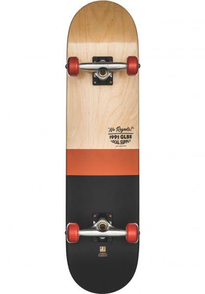 Globe Skateboard komplett Half Dip 2 natural-rust Vorderansicht