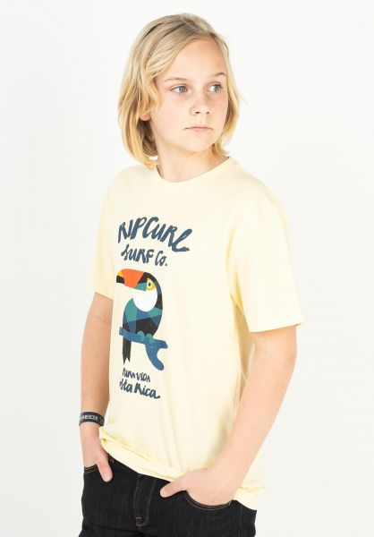 Rip Curl T-Shirts Animoulous paleyellow vorderansicht 0323992