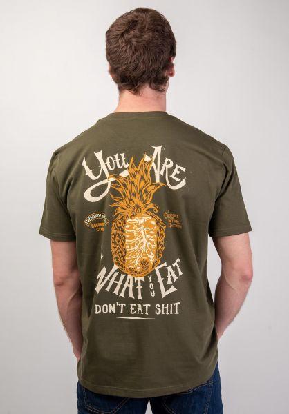 Turbokolor T-Shirts Shit Eat khaki vorderansicht 0320193