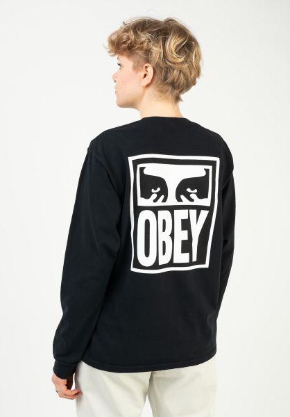 OBEY Longsleeves Obey eyes offblack vorderansicht 0383910