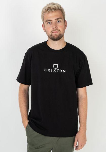 Brixton T-Shirts Alpha black vorderansicht 0322482
