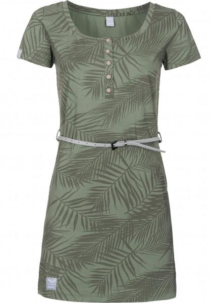 iriedaily Kleider La Palma olive Vorderansicht