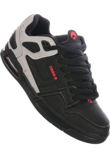 Osiris Alle Schuhe Peril black-lightgrey-red vorderansicht 0603703