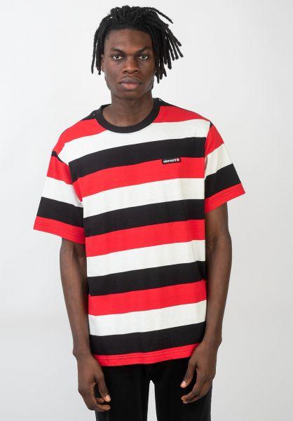 Element T-Shirts Primo Striped firered vorderansicht 0320503