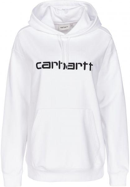 Carhartt WIP Hoodies W' Hooded Carhartt white-black vorderansicht 0444829